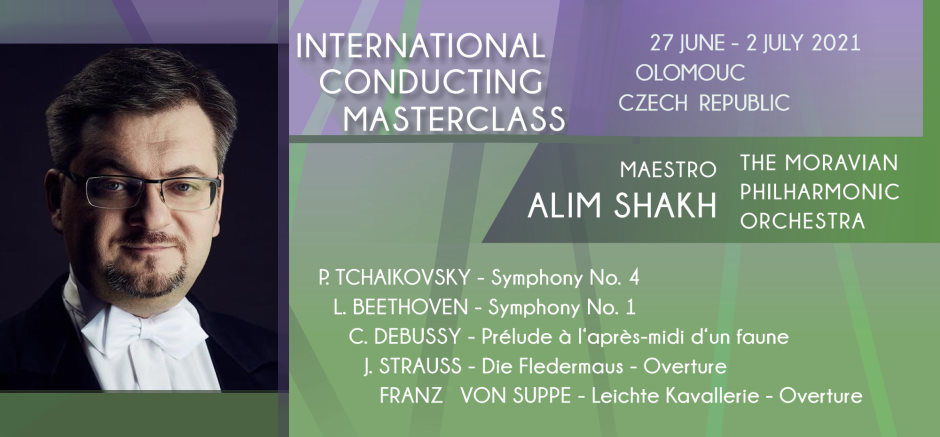 Overture, Symphony No. 3. Masterclass for conductors